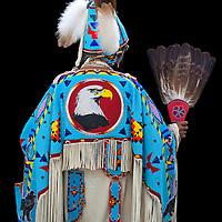 Katie M. Blackwolf-Bevis,from Pendelton,Yakama Nation,Warm Springs Pow Wow,Oregon,USA.(Model release 0096)