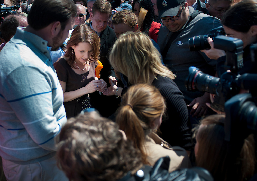 """Rep. MICHELE BACHMANN (R-MN) following a rally near the U.S. Capitol. The """"Cut Spending Now Revolt"""", staged Americans for Prosperity, was held to urge lawmakers to reduce federal spending. Americans for Prosperity describes itself as the nation's leading free-market, grassroots organization."""