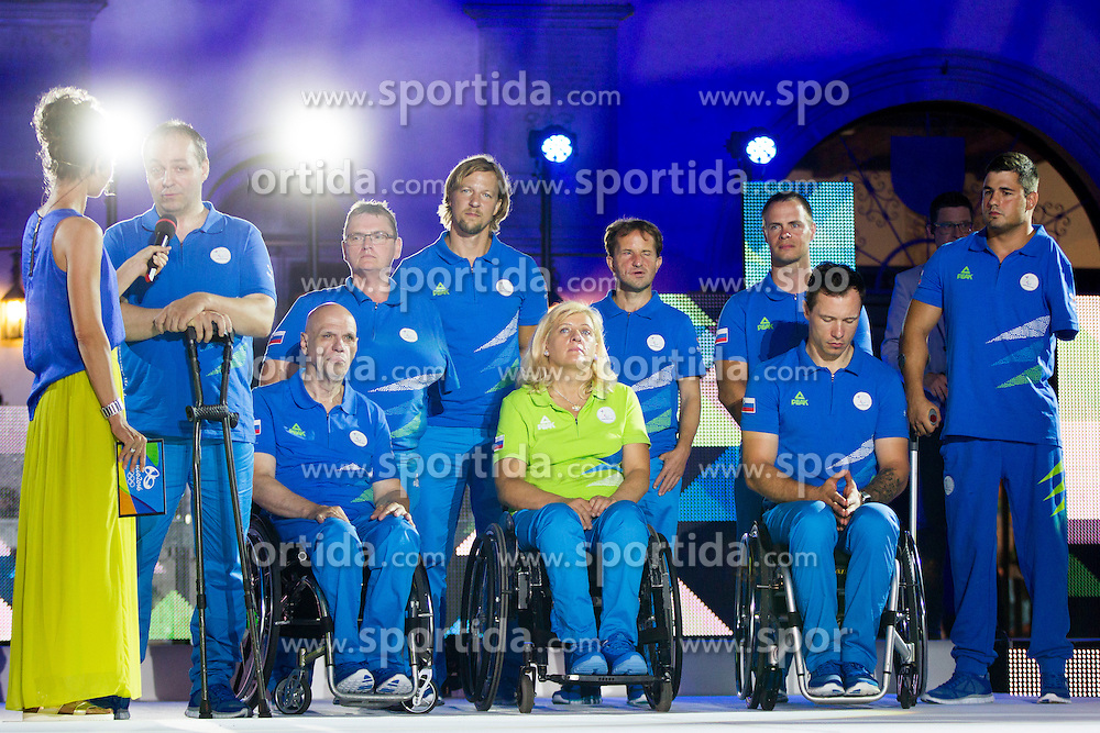 During presentation of Slovenian Paralympics‎ Team for Rio 2016, on July 22, 2016 in Titov trg, Koper, Slovenia. Photo by Urban Urbanc / Sportida
