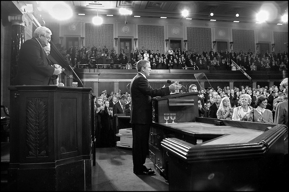 President Bush addresses a Joint Session of Congress. 9/19/01..&copy;PF<br />