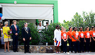 14-11-2013 SABA -  The arrival of the Dutch King Willem Alexander en Queen Maxima at SABA . They will visit all the 6 Dutch Islands the next 10 days . The royal couple will visit the Caribbean . COPYRIGHT ROBIN UTRECHT