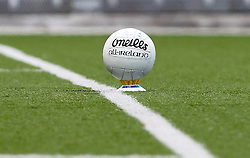 May 6, 2012; Bronx, NY; USA;  A Gaelic Soccer ball is teed up before kickoff for the match between Sligo and New York at Gaelic Park.