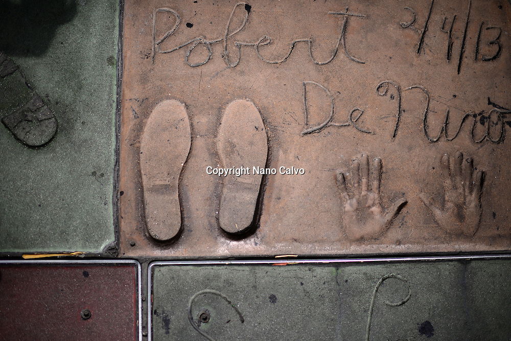 Robert de Niro´s prints at Grauman's Chinese Theatre, Hollywood Boulevard.