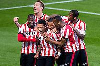 EINDHOVEN - PSV - SC Heerenveen , Eredivisie , voetbal , Philips stadion , seizoen 2014/2015 , 18-04-2015 , PSV speler Memphis Depay viert zijn doelpunt voor de 2-0