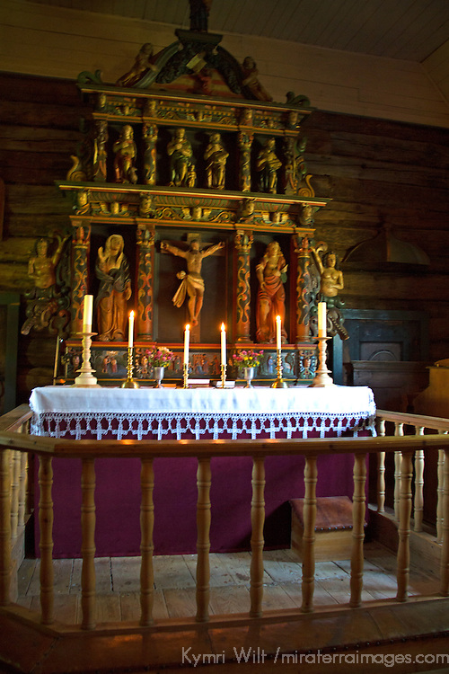Europe, Norway, Molde. Norwegian Church Altar at Romsdal Museum in Molde.