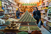 Spices for sale at the market, old city, Jerusalem, Israel