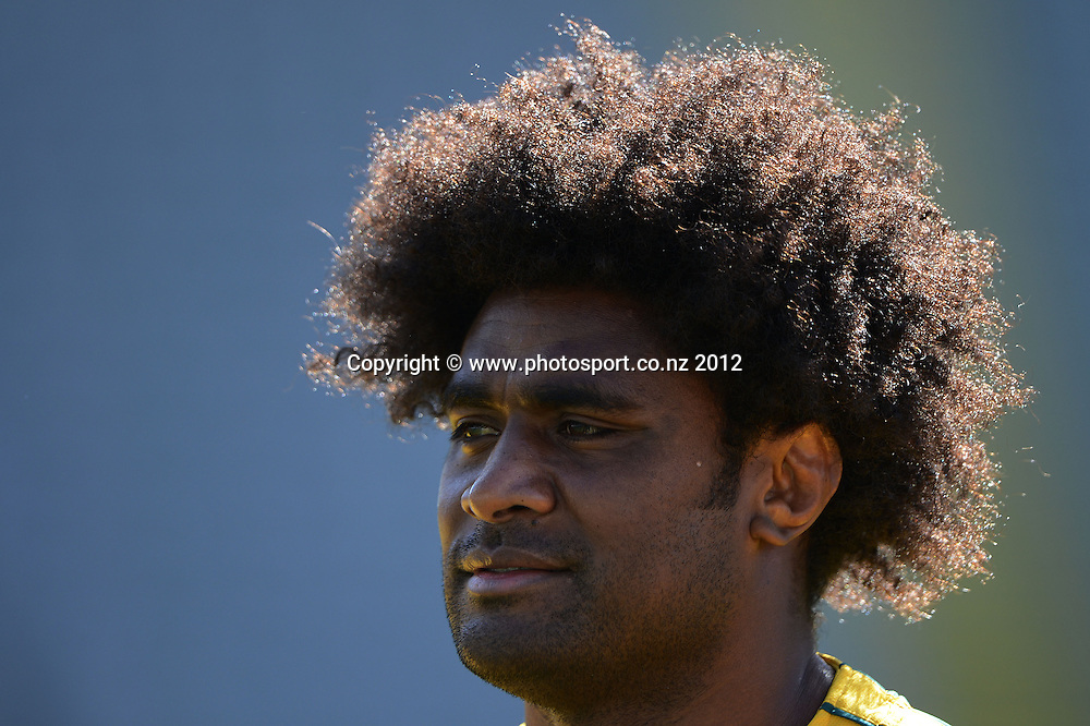 Radike Samo during the Australian Wallabies Captain's Run at Eden Park ahead of the Bledisloe Cup and Rugby Championship test match against the New Zealand All Blacks tomorrow. Friday 24 August 2012. Photo: Andrew Cornaga/Photosport.co.nz