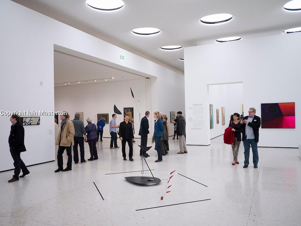 Interior of new contemporary art museum or gegenwartskunst for Design museum frankfurt