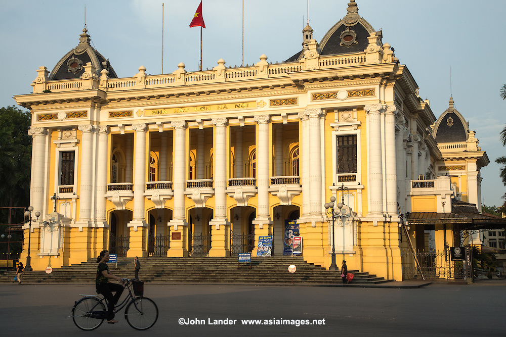 The Hanoi Opera House was built during the French colonial administration of Vietnam between 1901 and 1911 and was modeled on the Palais Garnier in Paris. It is one of the architectural landmarks of Hanoi.  After the departure of the French the opera house became the scene for several political events.  After independence the venue was mostly used for performances of Vietnamese plays and folk dances, but in recent years has begun to stage classical music, ballet and operas once again.
