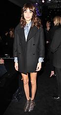 FEB 17 2013 Alexa Chung at London Fashion Week