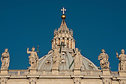 The dome of St. Peter's Basilica, Vatican City. (Photo by Sam Lucero)