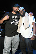 October 27, 2012-New York, NY: (L-R) DJ Big Vaughn and Abdul at House of Blues for BlackStar performance on October 27, 2012 in Atlantic City, New Jersey. Black Star arose from the underground movement of the late 1990s, which was in large part due to Rawkus Records, an independent record label stationed in New York City. They released one album, Mos Def & Talib Kweli Are Black Star on August 26, 1998. (Terrence Jennings)