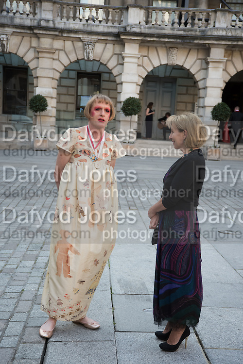 GRAYSON PERRY; SARAH SANDS, Royal Academy Annual dinner, Piccadilly, London. 6 June 2016