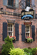 The Off Broadway restaurant in Charlottetown's historical district; Prince Edward Island, Canada.