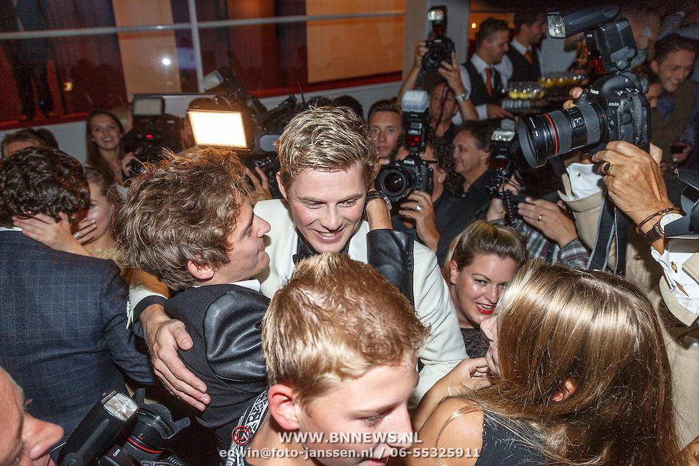 NLD/Tilburg/20150913 - Premiere musical Grease, Tim Douwsma en zijn broer
