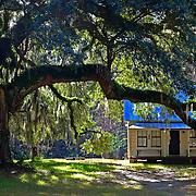 Gullah Geechee style Moses Ficklin Cottage on Daufuskie Island, South Carolina.