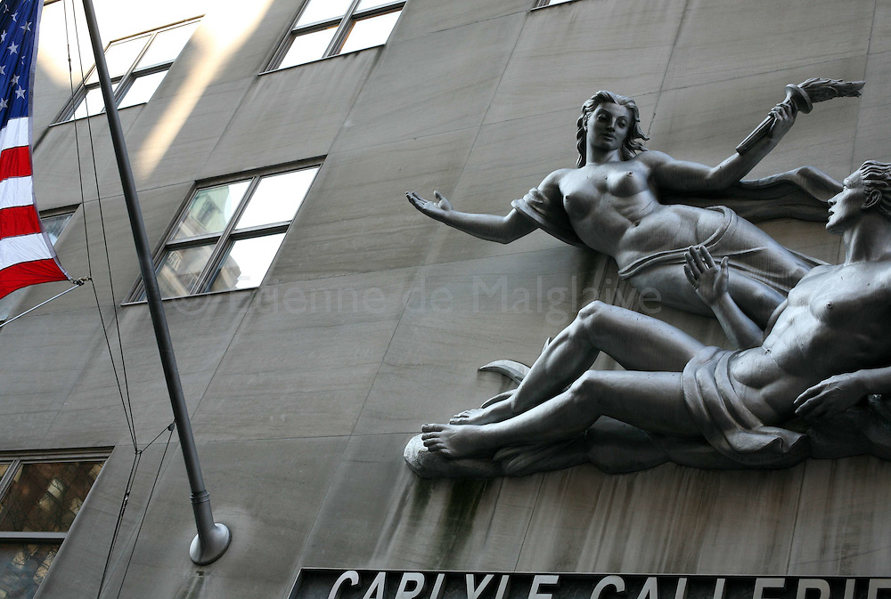 Carlyle Galleries building in New York city, 27 January 2010.