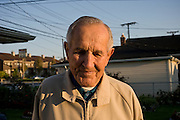 86 year old John Orginciak has been living in the United States since 1951. A Polish immigrant surviving a work camp in Nazi Germany. He hasn't been able to visit Poland again since 1942 but still misses it every day. Detroit, USA, 2011