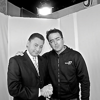Spanish photographer KIKE CALVO with Jose Escobar, anchor of Telemetro Reporta