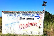 Revolutionary sign in Playa Baracoa, Artemisa, Cuba.