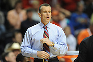Ole Miss vs. Florida head coach Billy Donovan in the SEC championship game at Bridgestone Arena in Nashville, Tenn. on Sunday, March 17, 2013.