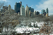 NYC, NY, Central Park, Wollman RInk, Ice Skating, Park designed by Frederick Law Olmsted and Calvert Vaux, Winter