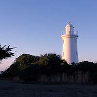 Australia, Tasmania, The Devonport Lighthouse sits atop Mersey Bluff overlooking Bass Strait, which separates Tasmania from mainland Australia
