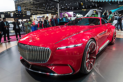 Vision Mercedes - Maybach 6 concept electric all wheel drive luxury coupe at Paris Motor Show 2016