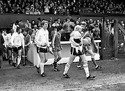The teams take to the pitch for the FAI Cup Final. In the event, Dundalk beat Sligo Rovers 2&ndash;0. The winning goals were scored by John Archbold and Mick Fairclough.<br />26 April 1981
