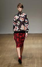 FEB 16 2013 Clements Ribeiro show at London Fashion Week A/W 13