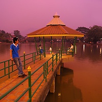 Evening, Pier at Jong Kham Lake, Mae Hong Son, Thailand