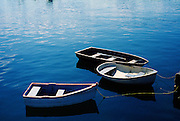 Image of rowboats in the harbor in Rockport, Maine, American Northeast