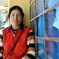 Maria work for Warmi. Warmi Sayajsungo is a women's organization based in Argentina that helps women become self-sufficient. Rosario Quispe, who has seven children, and is the wife of an unemployed miner, founded the organization of indigenous Coya in 1995, called Warmi Sayajsungo, which in quechua means Women's PerseveranceÓ. Rosario had an ambitious dream for the Coya people who lived high on the arid plateau where Argentina and Bolivia meet, in the shadow of the Andes. That dream was that one day they would live in dignity on the fruits of their own work. They are taught skills and given micro credits to help their small businesses prosper.Each person photographed has their own story to tell about their life now and how the organization changed their lives for the better.