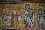 Ieud Hill Church, Church of Birth of the Most Holy Mother of God, UNESCO, Ieud, Romania, primitive Byzantine-style murals