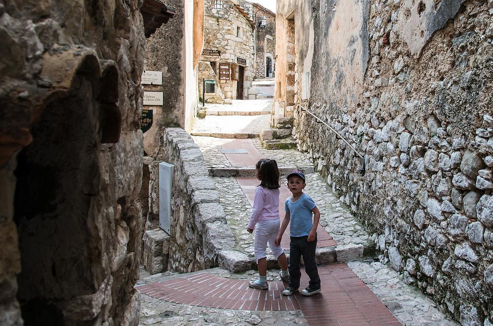 Children in the village of Eze, France.