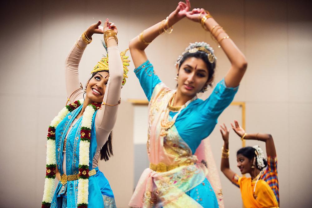 Bharatanatyam Dance Group Charles Preform During a Dress Rehearsal For The Sainritya Dance Group