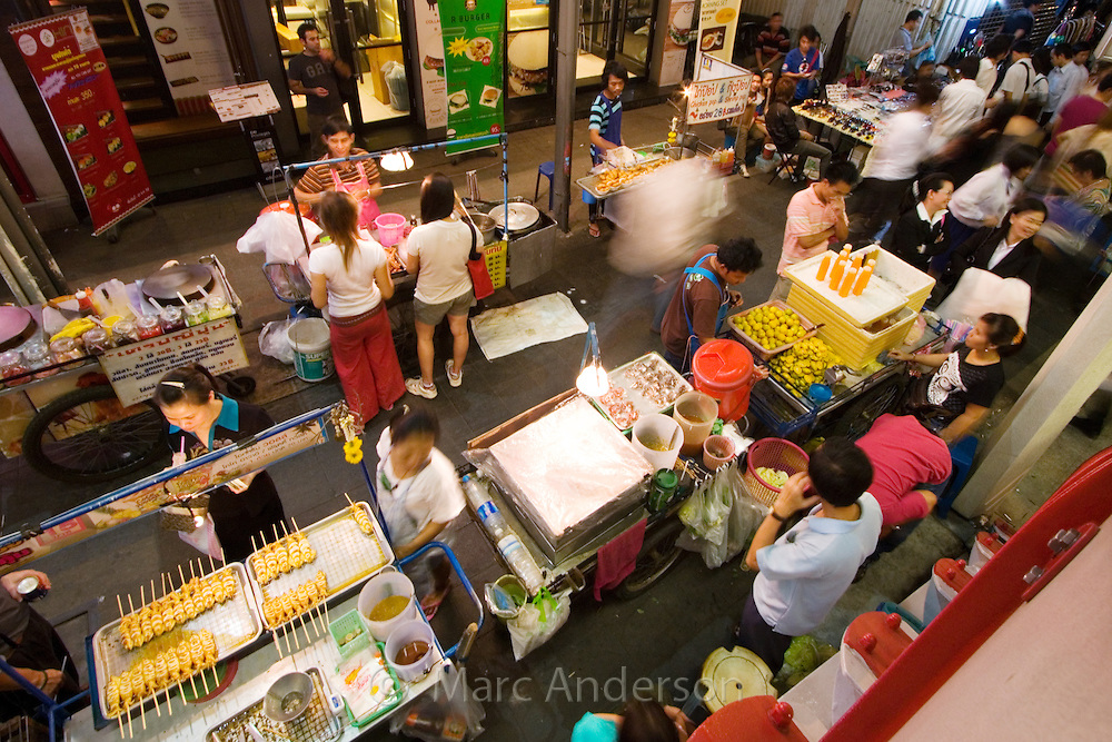 Street food stalls, Bangkok, Thailand