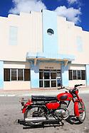 Motorcycle in San Juan y Martinez, Pinar del Rio, Cuba.