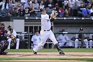 CHICAGO - JUNE 05:  Paul Konerko #14 of the Chicago White Sox bats against the Cleveland Indians on June 5, 2009 at U.S. Cellular Field in Chicago, Illinois.  The Indians defeated the White Sox 6-0. (Photo by Ron Vesely)
