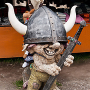 Funny troll sculpture at Trollstigen (the Troll's Ladder) mountain road, Rauma, Reinheimen National Park, Norway