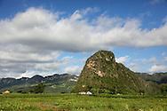Farm and mogotes in Pinar del Rio, Cuba.
