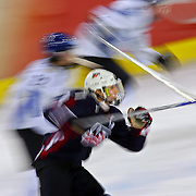 U.S. Women's Hockey Team captain Krissy Wendell (#7) takes off down ice against Finland with a pait of Finnish defenders in tow during the third period of their bronze medal game at the Palasport Olimpico in Turin, Italy on Monday February 20, 2006. The U.S. won the bronze medal beating Finland 4-0..(MARC PISCOTTY/ROCKY MOUNTAIN NEWS) Names taken off the official roster