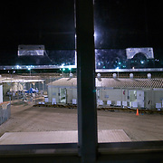 "A view of Camp 4 at the detention facility in Guantanamo Bay, Cuba. Camp 4 is a communal style camp where more compliant detainees live in small groups and have access to a more open air environment. Approximately 250 ""unlawful enemy combatants"" captured since the September 11, attacks on the United States continue to be held at the detention facility.(Image reviewed by military official prior to transmission)"