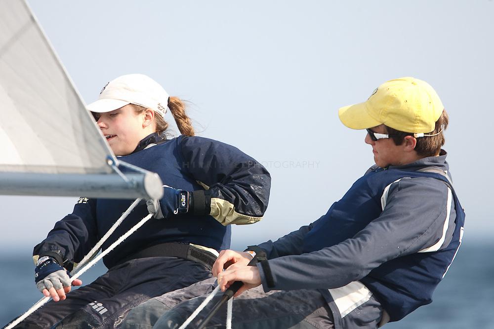 Rhode Island, Providence, Naragansett Bay, 27 April 2009, Moses Brown Sailing Team, Varsity, Match Racing, East Greenwich High School