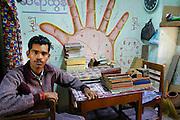 Hindu astrologer. Mandalay, Myanmar