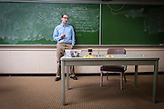 Dan Showalter photographed in McCracken Hall (Ohio University) for Perspectives magazine (Ohio University).