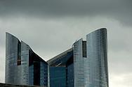 headquarter of societe generale bank, paris, ladefense