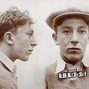 Alias: Half Pint 1929 Mug shot 21 year old burglary suspect, New Jersey
