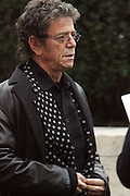 Lou Reed arrives at The Metropolitan Opera's 125th Anniversary Gala and Placido Domingo's 40th Anniversary Celebration underwritten by Yves Saint Laurent held at The Metropolitian Opera House, Lincoln Center on March 15, 2009 in New York City.
