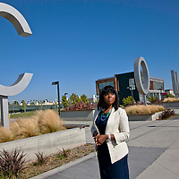 Mayor of Compton, Aja Brown.